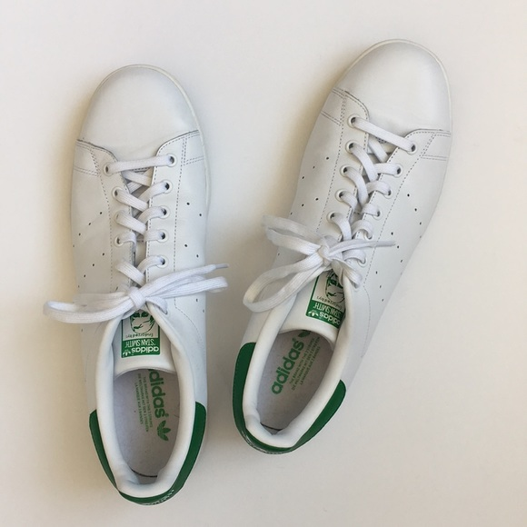 official photos b2043 beb51 Adidas Stan Smith Classic Sneakers, White/Green
